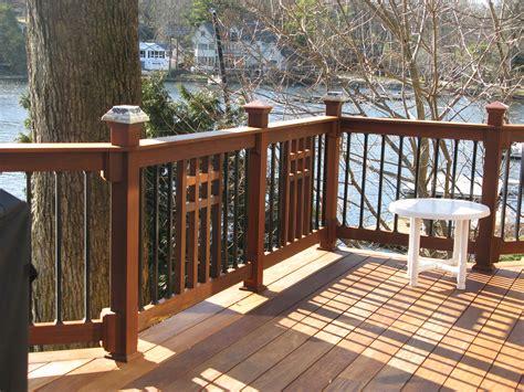 Patio Deck Railing Designs Craftsman Style Deck Railing Many Deck Railing Ideas Http Awoodrailing 2014 11 16 100s Of