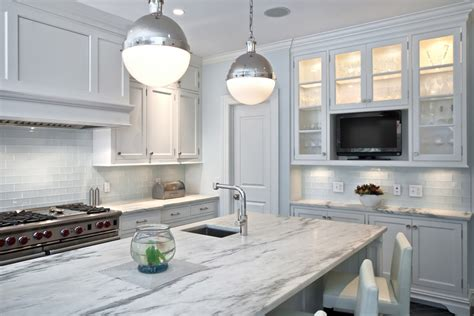 white glass subway tile kitchen contemporary with bread