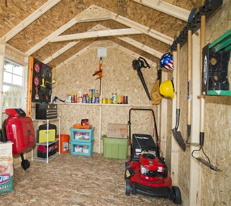 Storage Shed Organization Ideas by Organize Your Shed With Pegboards Shed Liquidators