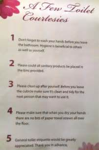 Bathroom Etiquette In The Workplace What Is General Toilet Etiquette Stuff Co Nz