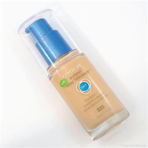 Covergirl Outlast Foundation covergirl outlast stay fabulous 3 in 1 foundation review
