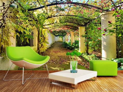 garden wall murals 86 best images about wallpaper on scenery