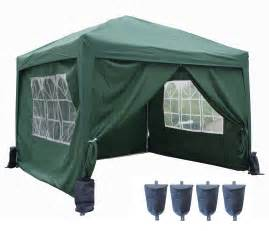 3m x 3m pop up gazebo waterproof canopy awning marquee party tent with sides new ebay