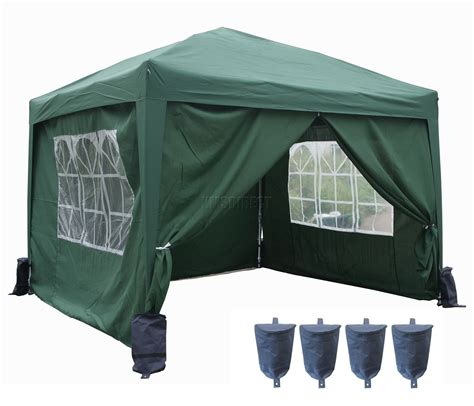 canopy tent with awning 3m x 3m pop up gazebo waterproof canopy awning marquee