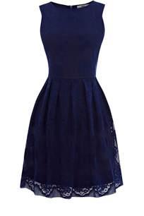 blue dresses oasis lace cutaway dress in blue blue lyst