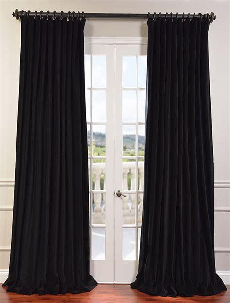 Black Pinch Pleat Curtains Black Pinch Pleat Curtains 2 X Pinch Pleat Blackout Blockout Curtains Black 140 X 230 Cm Drop