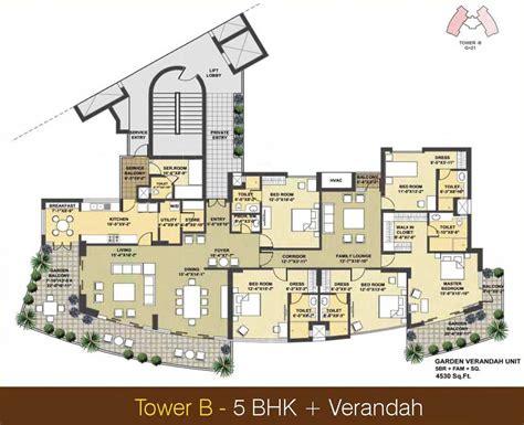 5 bhk duplex floor plan pioneer presidia
