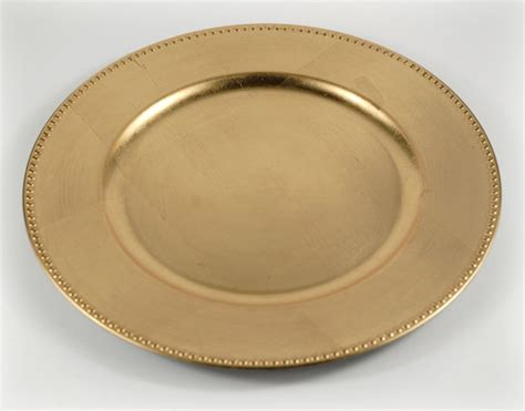 gold beaded charger plates 6 gold leaf charger 13 quot plates beaded edge