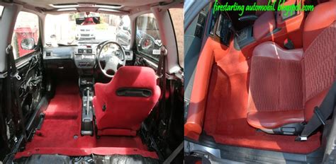 Karpet Dalam Mobil 3 Potong starting automobil diy pemasangan carpet merah