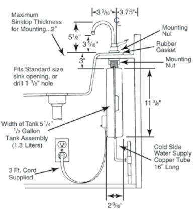 insinkerator parts diagram insinkerator instant parts insinkerator 1