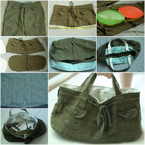 wonderful diy tote bag from shorts