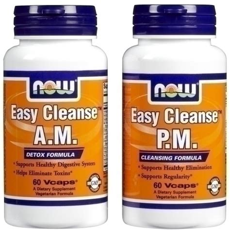 Easy 2 Day Detox Cleanse by Now Easy Cleanse Detoxifying Cleansing 15 Day Kit 120