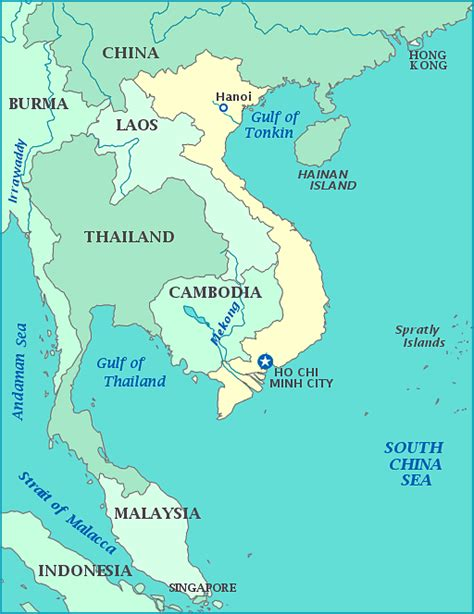 map  vietnam  china