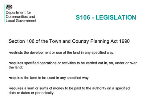 section 106 agreements 150713 pas section 106 dclg