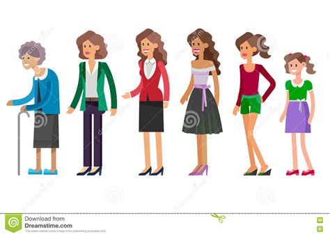 child development from infancy to adolescence an active learning approach generations all age categories vector illustration