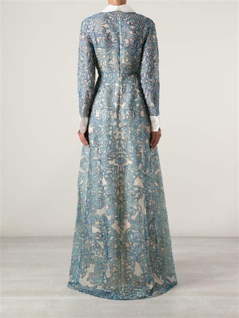 Valentino Maxy lyst valentino embellished maxi dress in blue