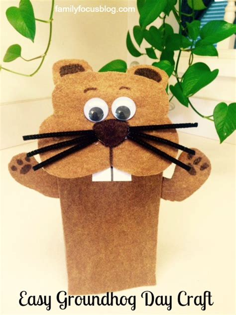 groundhog crafts for groundhog day craft how to make a groundhog puppet