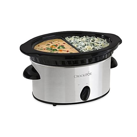 slow cooker bed bath and beyond buy crock pot 174 4 cup double dipper slow cooker from bed bath beyond