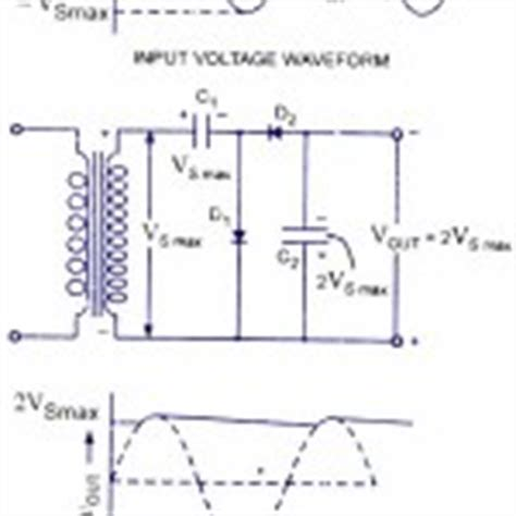 capacitor voltage doubler clipping circuits cling circuits diode voltage clipper and cler circuits