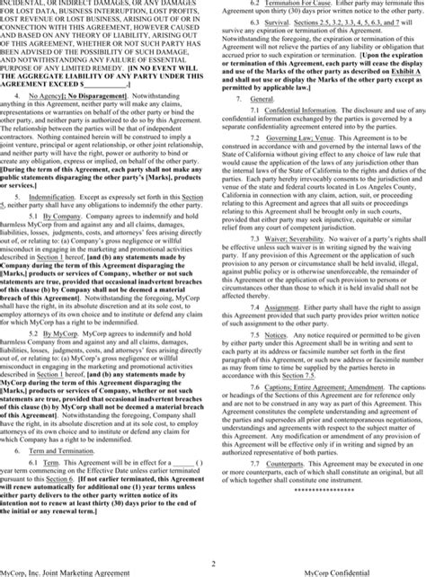 joint marketing agreement template joint marketing agreement template for free
