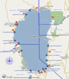 lake tahoe map california lake tahoe marinas