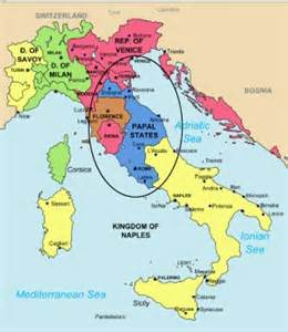 Papal States Map by Italy Map Papal States Quotes