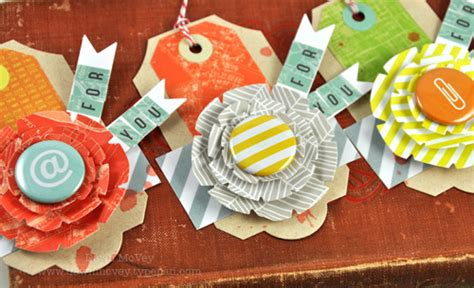 tutorial tags scrapbook my favorite things national scrapbooking day tag tutorial