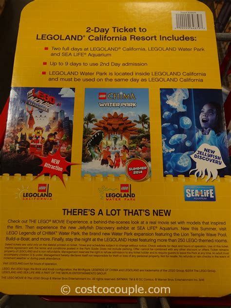 Legoland Gift Cards - legoland 2 day resort ticket gift card