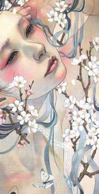 cuadros de japonesas cuadros modernos pinturas y dibujos rostros virginales y
