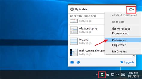 dropbox not in system tray how to change the location of your dropbox folder