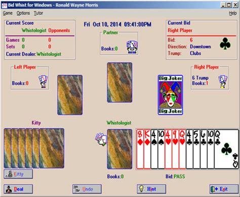 bid to win software bid whist for windows windows