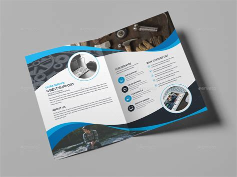 a4 bi fold brochure template by generousart graphicriver