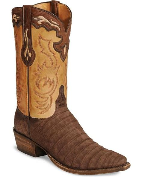 Handcrafted Cowboy Boots - lucchese handcrafted classics sueded caiman cowboy boots