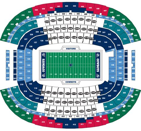 cowboy stadium seating dallas cowboys football schedule sports tours