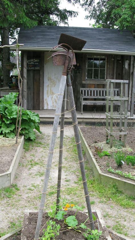 Kitchen Garden Arbor Modern Kitchen Garden With Rustic Tool Trellis