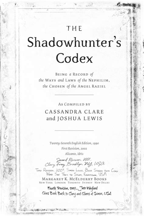 Pdf Shadowhunters Codex Mortal Instruments by The Mortal Institute Sneak Peek 1 Of The Shadowhunter S