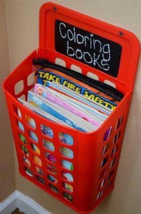 plastic bag bin  coloring books practical solutions