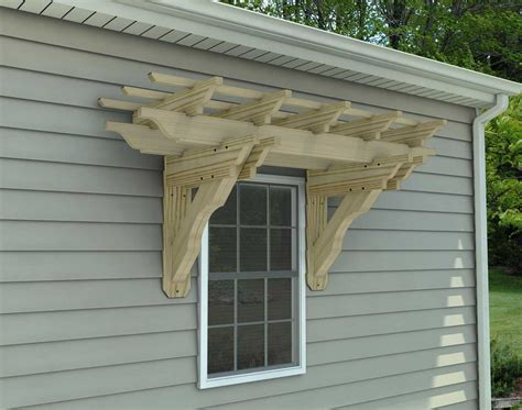treated pine eyebrow breeze wall mount pergolas pergolas