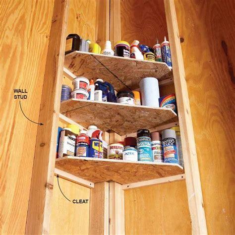 ideas  storage shed organization