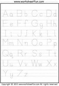 capital and small letter tracing worksheet free