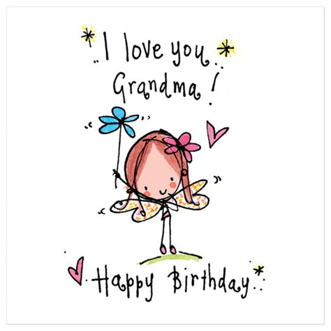 i love you grandma happy birthday juicy lucy designs
