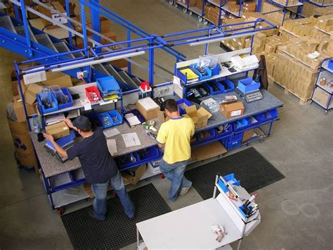 warehouse workstation layout flexible workstation for shipping departments offers