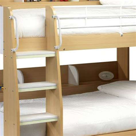 Julian Bowen Domino Bunk Beds In Maple And White Bunk Bed Ladder Safety
