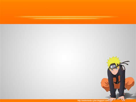design powerpoint naruto background powerpoint dengan tema naruto andromeda cyber