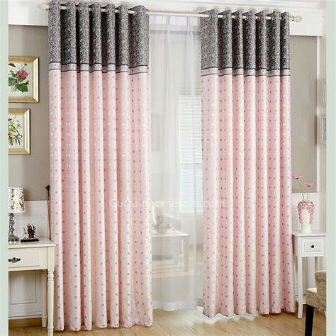 girl bedroom curtains lovely polka dots embroidery craft linen cotton girl