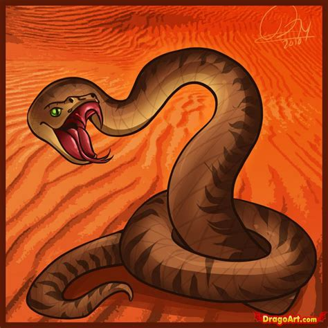 Viper Snake Drawing how to draw a viper step by step snakes animals free
