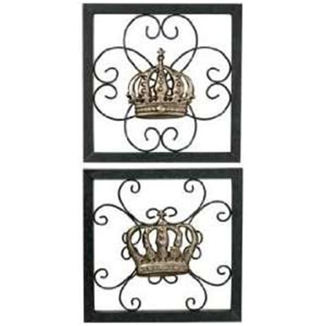 king and queen home decor metal wall decor 4 pcs set