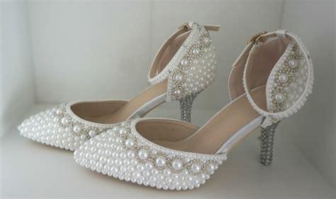 Brautschuhe Wei High Heels by Pumps Wei 223 Perlen Hochzeit High Heels Schuhe Brautschuhe