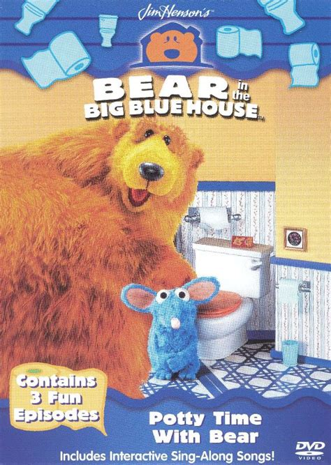 bear inthe big blue house dvd bear in the big blue house potty time with bear dvd english best buy