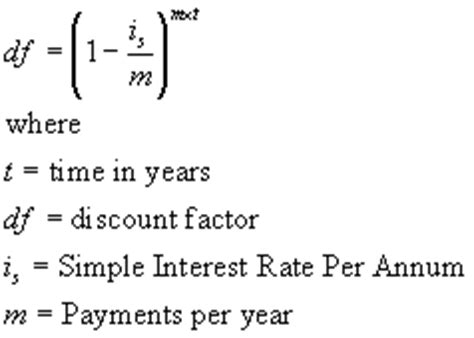 Trade Credit Discount Formula Interest Simple Annual Continous And Discount Factors